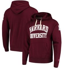 Harvard Crimson League Stadium Collection University Pullover Hoodie - Crimson