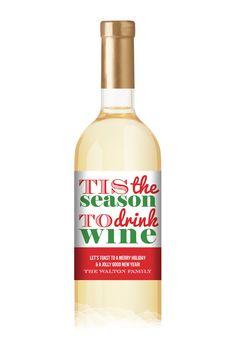 Festive Season Bottle Label $16 (for $16)