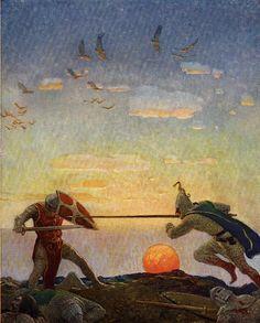 N.C. Wyeth for The Boy's King Arthur, 1922