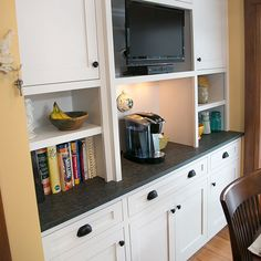 new back counter space off of dining area in new kitchen remodel Cabinet Companies, Counter Space, Custom Cabinets, New Kitchen, Dining Area, Countertops, Kitchen Remodel, Kitchen Cabinets, Flooring