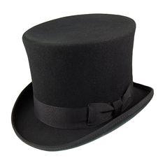 Hattar - Victorian Top Hat (hög hatt) (svart)