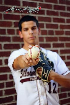 Oh, just got myself another senior picture pose/idea.  But I am going to add Drew's graduation year on the baseball. :-)