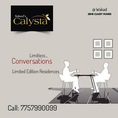 Talks, walks and more. Simple pleasure and near your office. What else can you want. Only few chances left.  http://saheelproperties.com/calysta/index.html