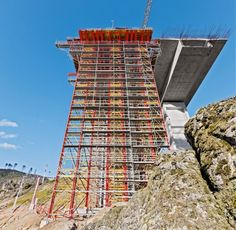 Motorway bridge over the Rio Sordo - combinability with the PERI UP scaffold system