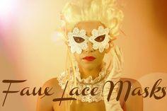 Grosgrain: DIY Paintable Faux Lace Masquerade Masks