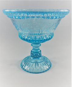 Steady Fenton Glass Blue Satin Hand Made Bon Bon Dish Original Estate Liquidation Buy One Give One Pottery & Glass Fenton