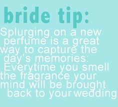 """""""Great idea. And it will always make you think of your special wedding day."""" Love it."""