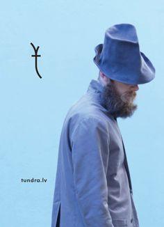 """Experimental headwear by the Latvian brand """"tundra HATA"""", Riga."""