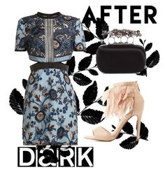 """""""after dark"""" by janesmiley ❤ liked on Polyvore featuring Cape Robbin, Alexander McQueen and self-portrait"""