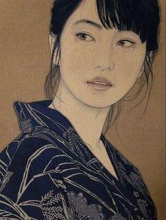 Risultati immagini per yasunari ikenaga Japanese Art Modern, Japanese Art Prints, Japanese Painting, 60s Art, Art Asiatique, Human Art, Art For Art Sake, Naive Art, Portrait Art