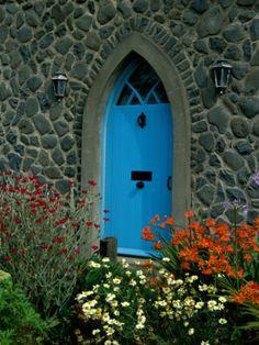 Beautiful, bright, blue door - Mount Stewart House, Ireland