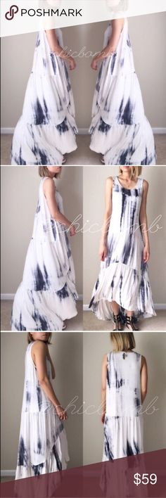 """Spring summer Chic luxe maxi dress. The most ridiculously beautiful and flowy maxi dress. Gorgeous bloom long maxi dress. Summer resort wear . Fabric; cotton95% and spender 5% . Super soft flowy. Size s: length;58"""" tail B: 44"""" w:44"""". M;length 59"""" tail, Bust:45"""",w;45 size L: length 60""""tail, b:46 w:46. NO TRADE. Follow me on  INSTAGRAM: @chic_bomb  and FACEBOOK: @thechicbomb CHICBOMB Dresses Maxi"""