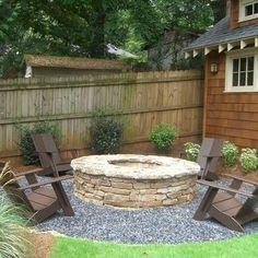 Fire pit and seating.  This looks nice and easy to do