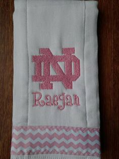 Notre Dame Burp Cloth for Baby Girl  by ItsOhSewDarling on Etsy, $12.00