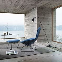 Bertoia bird chair- I'm sure these would be very comfortable. They look great too? For the reading room?