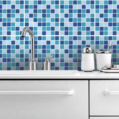 Mosaic Ocean Tiles Stickers (Pack of 24)