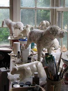 Paper Mache Process | Polar Bear Sculpture, From a Busy Week in My Studio