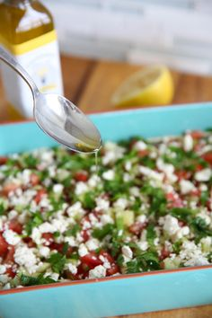 Healthy Greek Seven Layer Dip from Our Best Bites