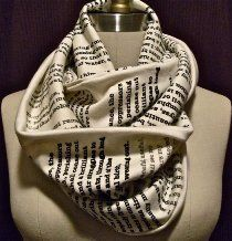 Classic Story Infinity Scarf - Pride and Prejudice or Jane Eyre are options! | Library of Congress Shop | $49.95