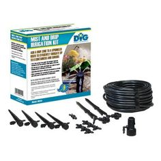 DIG Corp Mist and Drip Irrigation Kit-MD50 at The Home Depot. #Dripirrigation #irrigation #savewater #DigCorp