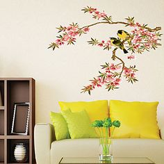 Peach branches Oriole Wall Stickers #04910667