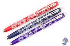 Sheaffer 100 fountain pens in three new colors/patterns. Definitely feminine - love it!
