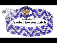 Peyote Chevron Stitch bracelet  ~ Seed Bead Tutorials