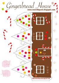 free gingerbread house: