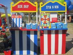 Easy Carnival Booth Ideas Best Picture For diy carnival rides For Your Taste You are looking for something, and it is going to tell you exactly what you are looking for, and you didn't find that pictu Diy Carnival Games, Carnival Signs, Carnival Booths, Carnival Decorations, Carnival Themes, Carnival Costumes, Creepy Carnival, Carnival Tent, Kids Carnival