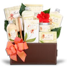 Deluxe Vanilla Orchid Spa Gift Basket      Turn any bath into an indulgent spa with the enticing aroma of vanilla orchid. Our Deluxe Spa Gift Basket has all the necessities you will need to relax and enjoy your day  $55.00