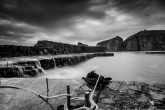 Latheronwheel Harbour, Caithness - After the Wave.