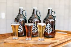 New beer growlers available at Seasons Seasons Restaurant, Beer Growler, Bottle, Home Decor, Decoration Home, Room Decor, Flask, Home Interior Design, Jars