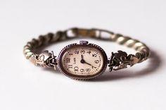 "Soviet watch Russian watch Vintage Watch Women watch Mechanical watch - silver color watch- Working - ""LUCH"" USSR Vintage /Anna"