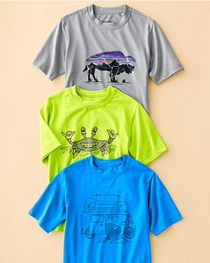 Patagonia® Capilene® Silkweight Graphic Tee - Boys