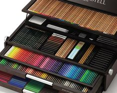 Limited Edition Faber Castell 250th Anniversary Box Set. Utterly lustworthy. If I could pick one image to showcase how I feel about colored pencils, this'd be it.