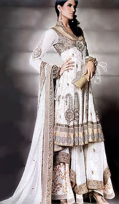 BW6810 Offwhite Sharara Latest Wedding Fashion in UK Latest Desi Wedding Dresses UK Bridal Wea