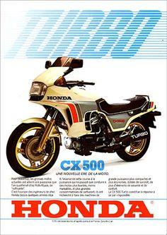 23204. - MOTORCYCLE - HONDA 1981 - CX 500 - Turbo - Une nouvelle ere de la moto. - 29x41-.