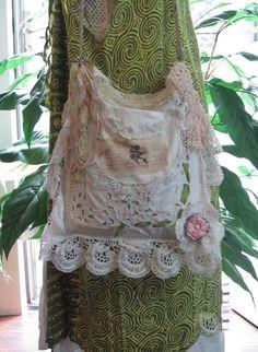 Victorian Shabby Chic Purse White Linen Bag  by NanasSunshine, $110.00