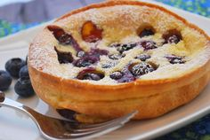 Dutch Baby Pancakes Recipe...a healthy take on regular pancakes!...I just made two, just half of the ingredients!