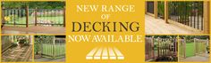 Our BRAND NEW decking range is now available, simply click through to view now! http://bit.ly/1G8DkFi