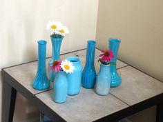 Hand painted glassware Vases Mason Jars by Deborahsdesignndecor