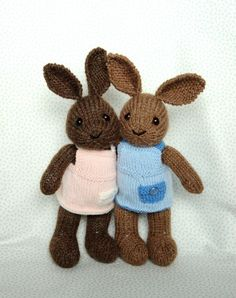 Welldressed Bunny  PDF file by fuzzymitten on Etsy