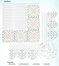 Material: - Barabnte EuroRoma 4/6 cru; - Barbante Milano nas cores 710 e 804; - Agulha de Crochê 3,5mm Tamanho: 90 x 52cm        Execução: Faça 2 vezes o gráfico e emende as peças com uma carreira de pontos baixos. Por fim, passe o acabamento ao redor