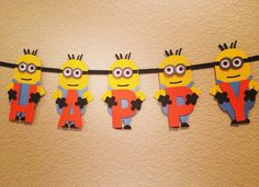 Minion Birthday Banner  Available at etsy.com/shop/bloomingdaisydesign