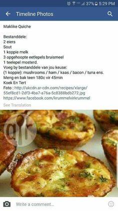 Kos, Savory Snacks, Savoury Dishes, Savoury Tarts, Quiches, Ma Baker, Cooking Recipes, Healthy Recipes, Tuna Recipes