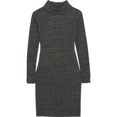 Madewell - Knitted Turtleneck Sweater Dress ($46) ❤ liked on Polyvore featuring dresses, anthracite, americana dress, american dress, boho style dresses, boho dresses and slip on dress