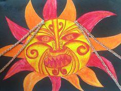 Maui and the Sun- Art Legends For Kids, Color Art Lessons, Maori Legends, Sun Illustration, New Zealand Art, Sculpture Art, Metal Sculptures, Abstract Sculpture, Bronze Sculpture