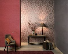 """""""Elegance is synonymous with good taste, amiability, equilibrium and harmony"""" - Paulo Coelho Damask designs reminiscent of 18th century palaces and mansions, ornamental patterns and floral motifs, classic yet with a contemporary twist are the main – and extremely elegant – themes in the new textile wallcovering collection of Omexco. Delicately printed – as if they were embroidered. #walldressingdecor #wallpaper #artforyourwall #wallpop #moderndesign #design #omexco #damaskdesign"""