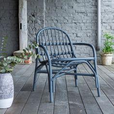 Stuhl aus Rattan Mina grau - - Tikamoon