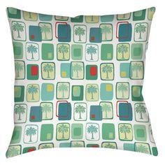 Deco Palm Indoor/Outdoor Throw Pillow